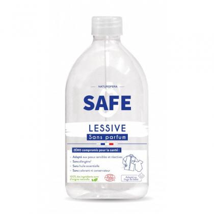 Lessive liquide naturelle - Sans parfum - 1L Safe