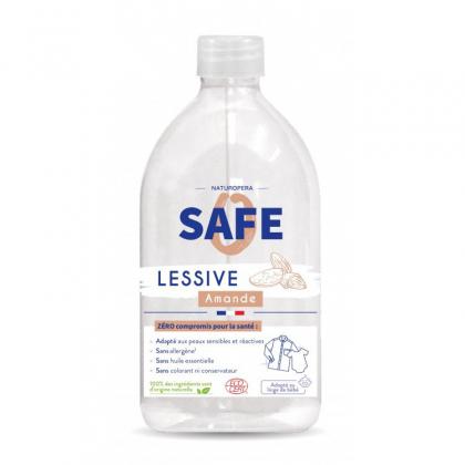 Lessive liquide naturelle - Amande - 1L Safe
