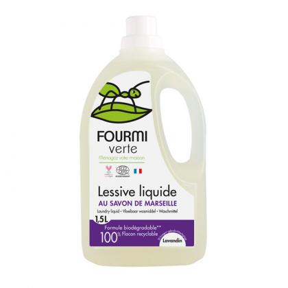 Lessive liquide à l'huile essentielle de lavandin - 1,5L - La Fourmi Verte