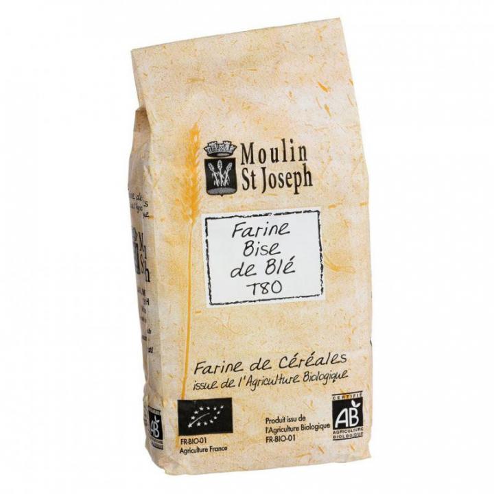 Farine bise de blé T80 bio - 1kg Moulin St Joseph