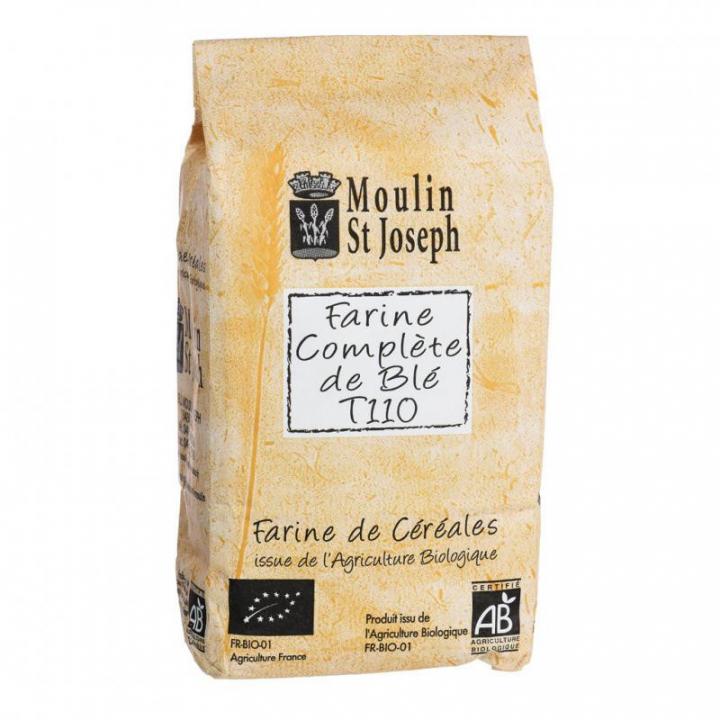 Farine complète de blé T110 bio - 1kg Moulin St Joseph