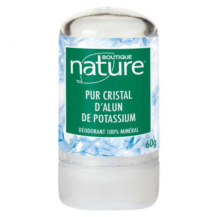 Déodorant Naturel Pur Cristal d'Alun 60g ou 120g  BOUTIQUE NATURE