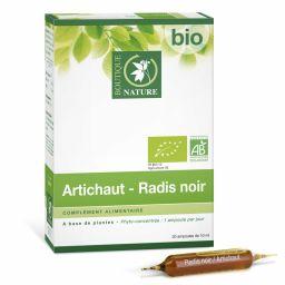 Artichaut et Radis Noir Bio Phyto-concentré 20 Ampoules de 10 ml BOUTIQUE NATURE