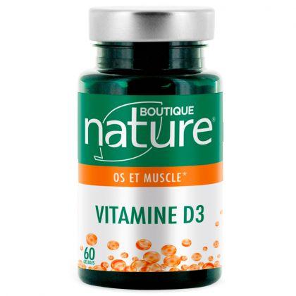 Vitamine D3 60 Gélules BOUTIQUE NATURE