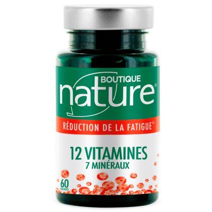 12 Vitamines 7 Minéraux 60 Gélules BOUTIQUE NATURE