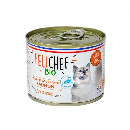 Mousse gourmande pour chat au saumon - 200g