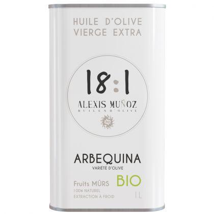 Huile d'olive Arbequina - Fruits mûrs - 1L