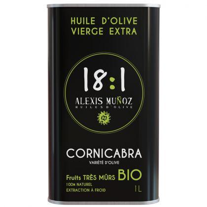 Huile d'olive Cornicabra - Fruits maturés - 1L