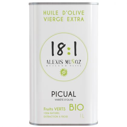 Huile d'olive Picual - Fruits verts - 1L