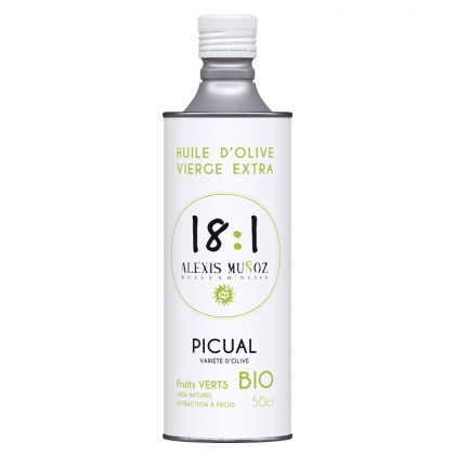 Huile d'olive Picual - Fruits verts - 50cL
