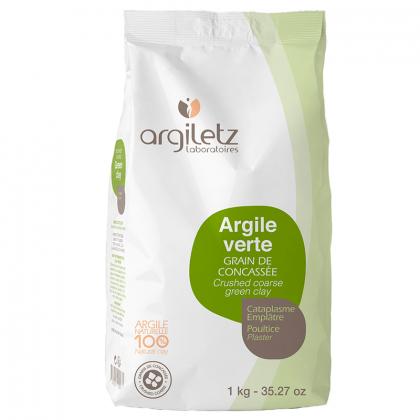 Argile verte concassée - 1kg