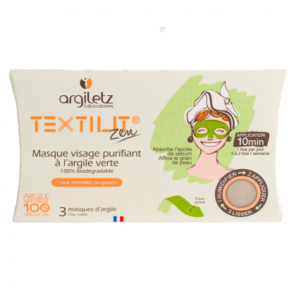 3 masques visage Textilit®...