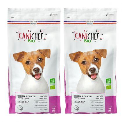 Lot de 2 paquets de croquettes pour chien de petite race - 2 x 2kg