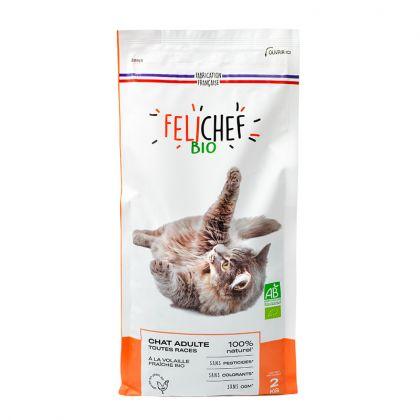 Croquettes à la volaille pour chat adulte - 2kg
