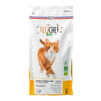 Croquettes sans céréales pour chat stérilisé - 2kg