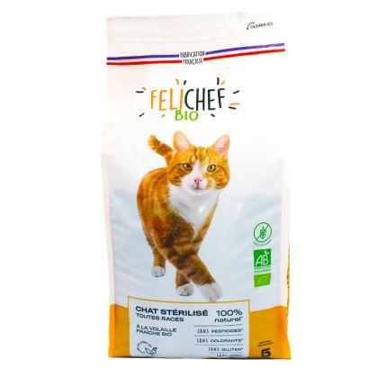 Croquettes sans céréales pour chat stérilisé - 5kg