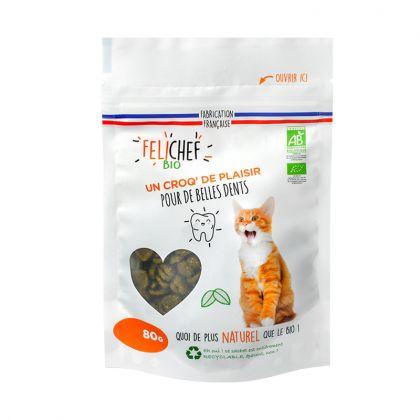 Friandises pour chat - Hygiène bucco-dentaire - 80g