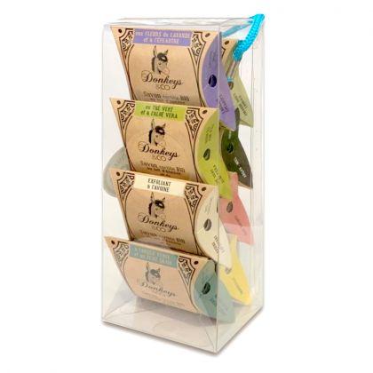 Pack de 8 savons au lait d'ânesse - 4 x 25g