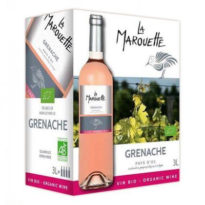 La Marouette Rosé - Grenache rosé bio et IGP - 3L